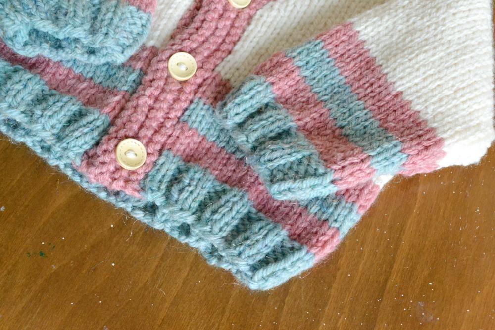 baby cardigan knitted aran yarn wool silver pattern free rowan