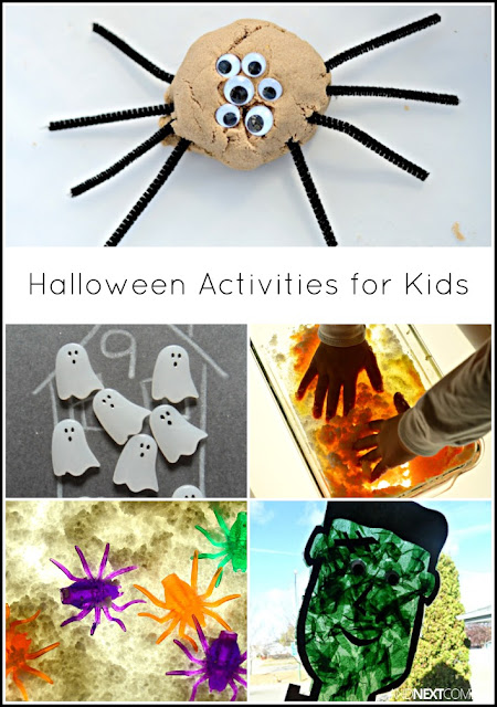 Halloween activities for kids including lots of monster themed ideas from And Next Comes L