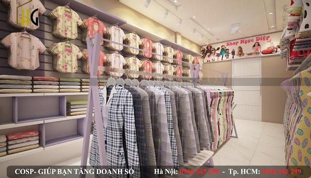 thiết kế cửa hàng thời trang đẹp mắt giá rẻ