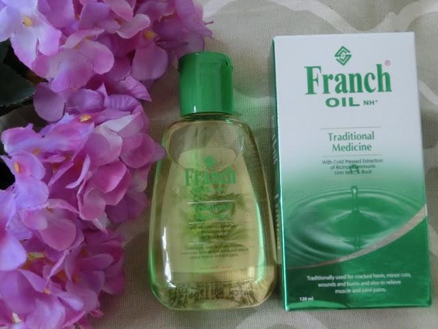 Guna Franch Oil rawat tumit kaki merekah atau pecah