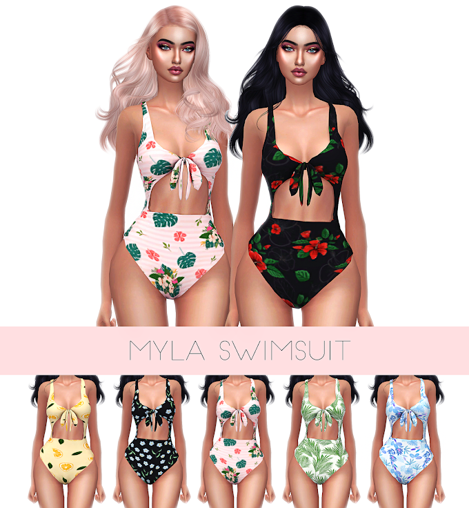 KENZAR GRAFITY MYLA SWIMSUIT