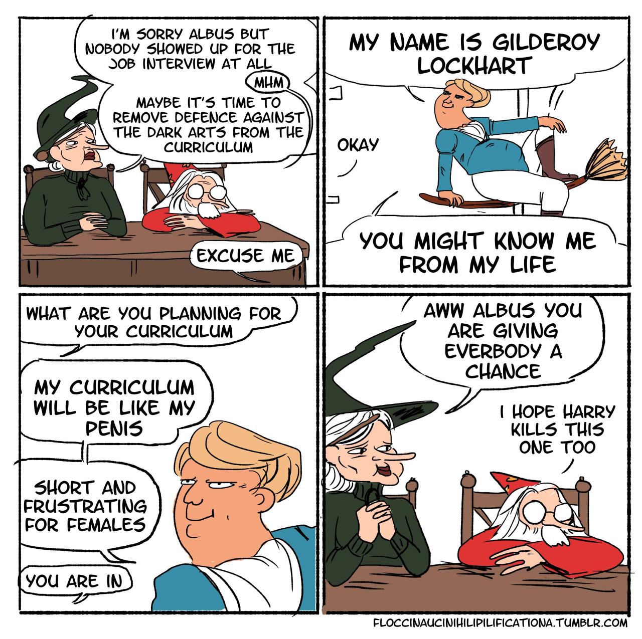 Hogwarts is looking for a new teacher, enter Gilderoy