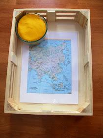 Asia map play dough activity