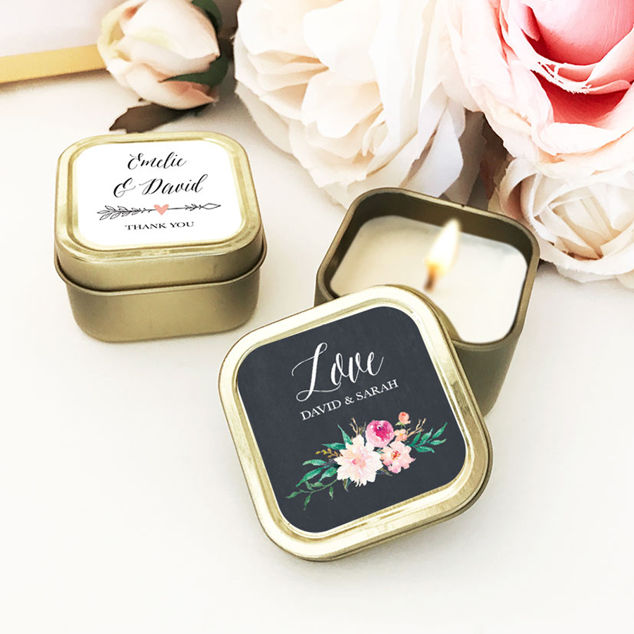 Mini Personalized Candles