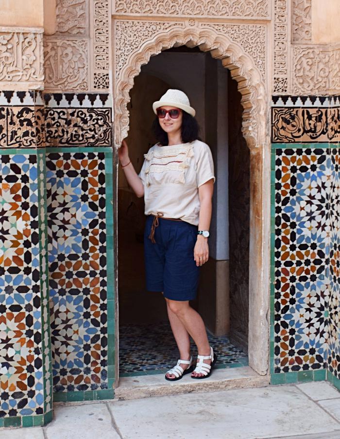 Jak się ubrać do Maroka? Bluzka uszyta z wykroju Burda 03/2015