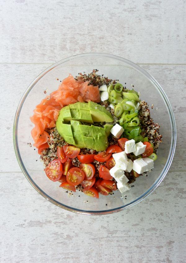 Ensalada de quinoa aguacate y salm n ahumado flor de azahar - Ensalada con salmon y aguacate ...