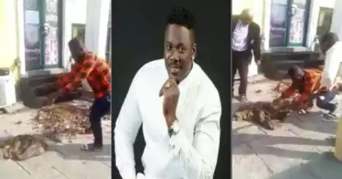 Popular Nigerian Night Club Owner Akeem Buries 2 kids & pig In Front Of Club As Sacrifices To Attract People To His Club