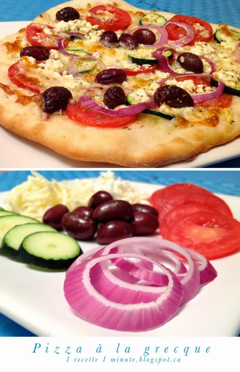 1 recette de pizza pizza la grecque tomate olive for Cuisine grecque