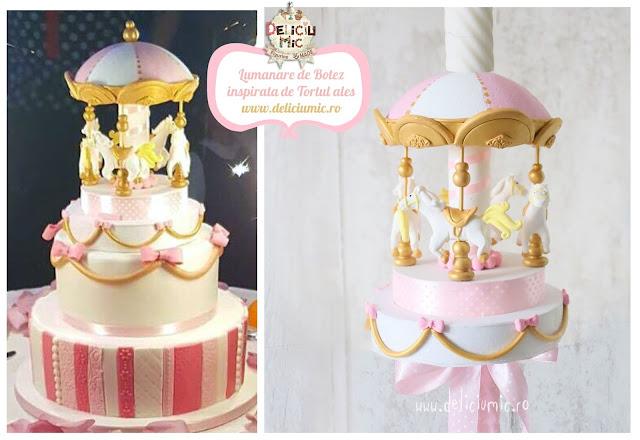 figurină tort carusel