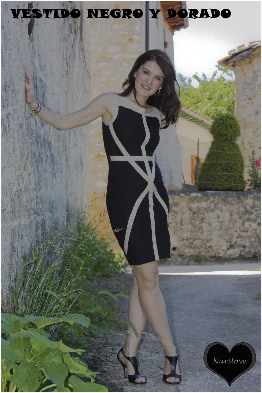 Vestido negro y dorado, un vestido para un evento o fiesta