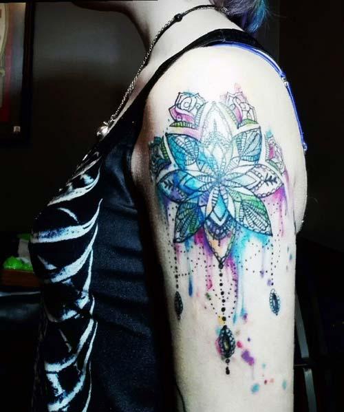kadın omuz dövmeleri woman shoulder tattoos 19