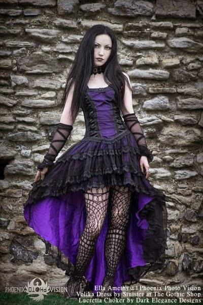 084e11de0859c More beautiful photos of Ella Amethyst taken by Phoenix Photo Vision. Dress  - Velika Dress by Sinister Choker - Lucretia Choker by Dark Elegance Designs