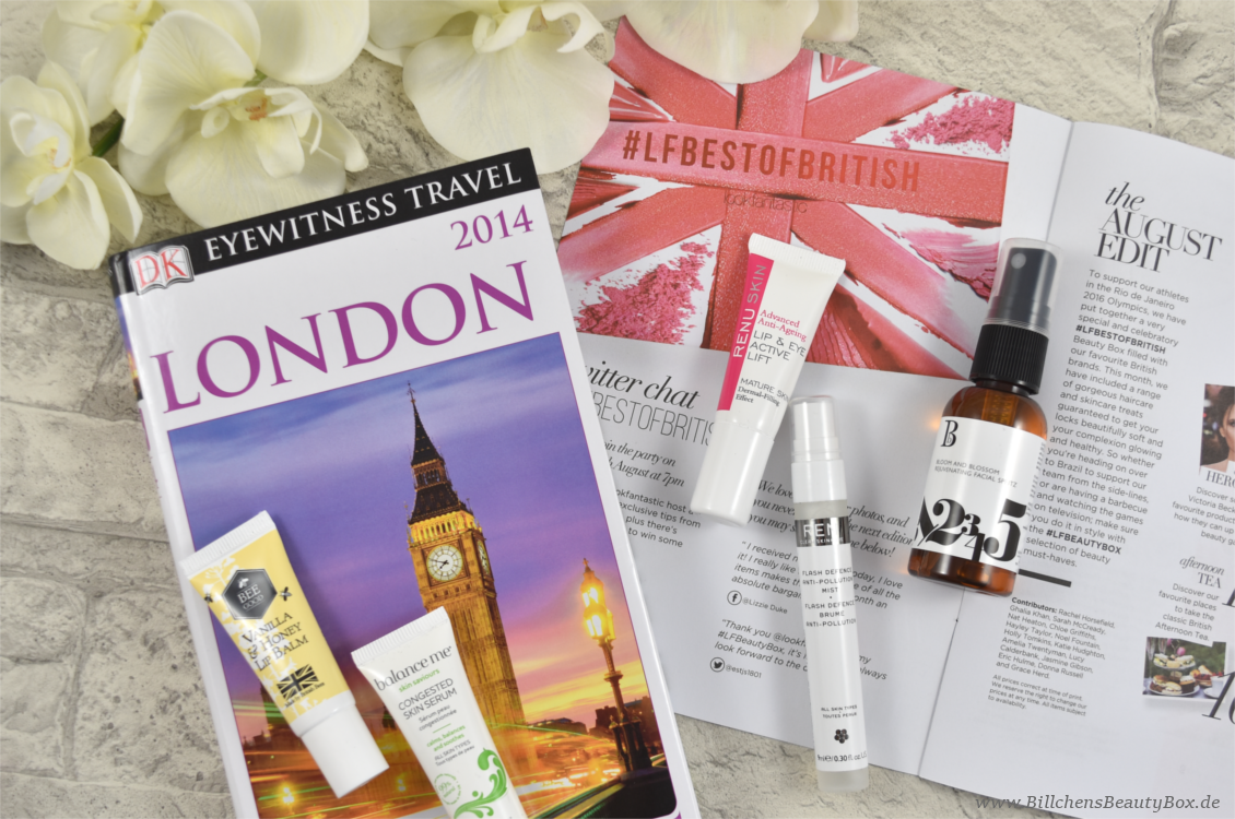 Lookfantastic Beauty Box August 2016 - Inhalt