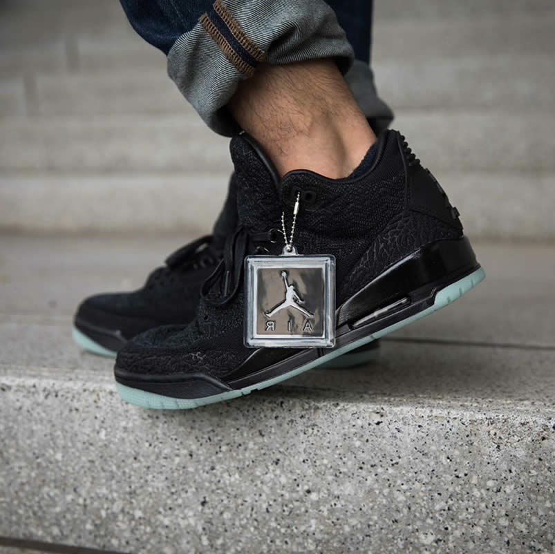 d102d7bd470 AnpKick Brand Street Footwear: Air Jordan 3 Retro Flykit Black Glow On Feet  For Sale AQ1005-001