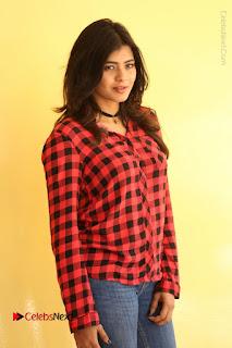 Actress Hebah Patel Stills in Blue Denim Jeans at Nanna Nenu Naa Boyfriends Movie Success Meet  0081.JPG
