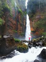 Wisata Alam Air Terjun Kapas Biru Lumajang