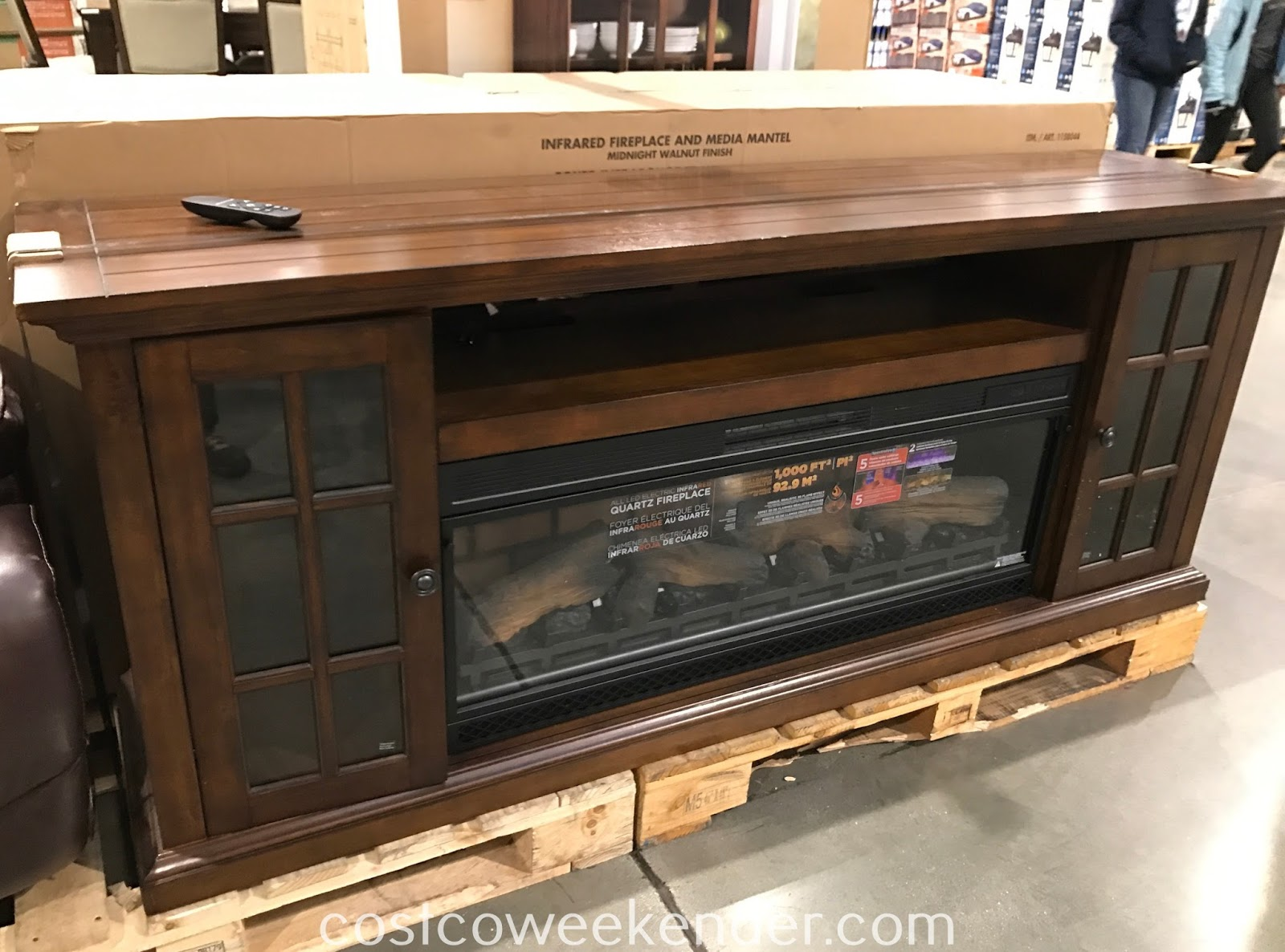 Have a place for your tv with the Tresanti 74in Fireplace Console