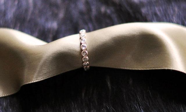 champagne diamond ring, rose gold diamond ring