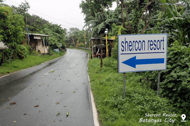 Signage at the main road outside the Shercon Resort.