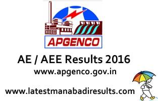 APGENCO AE AEE Results 2016 Assistant Engineer