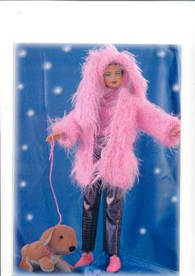 veste à capuche pour barbie