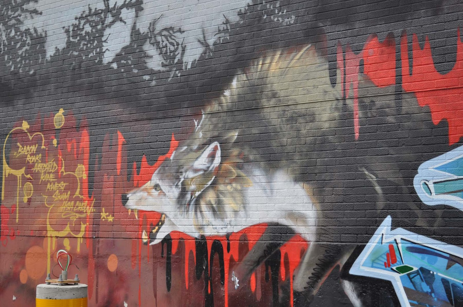 Stylus Animal Wolf In Graffiti Art Ideas