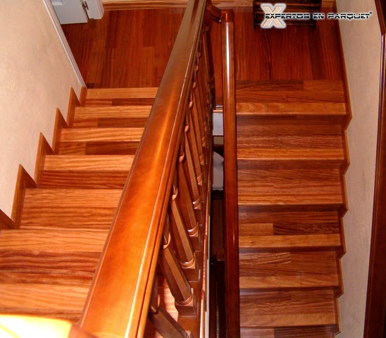 Forrar escaleras con parquet tarima o suelo laminado - Colocar parquet laminado ...