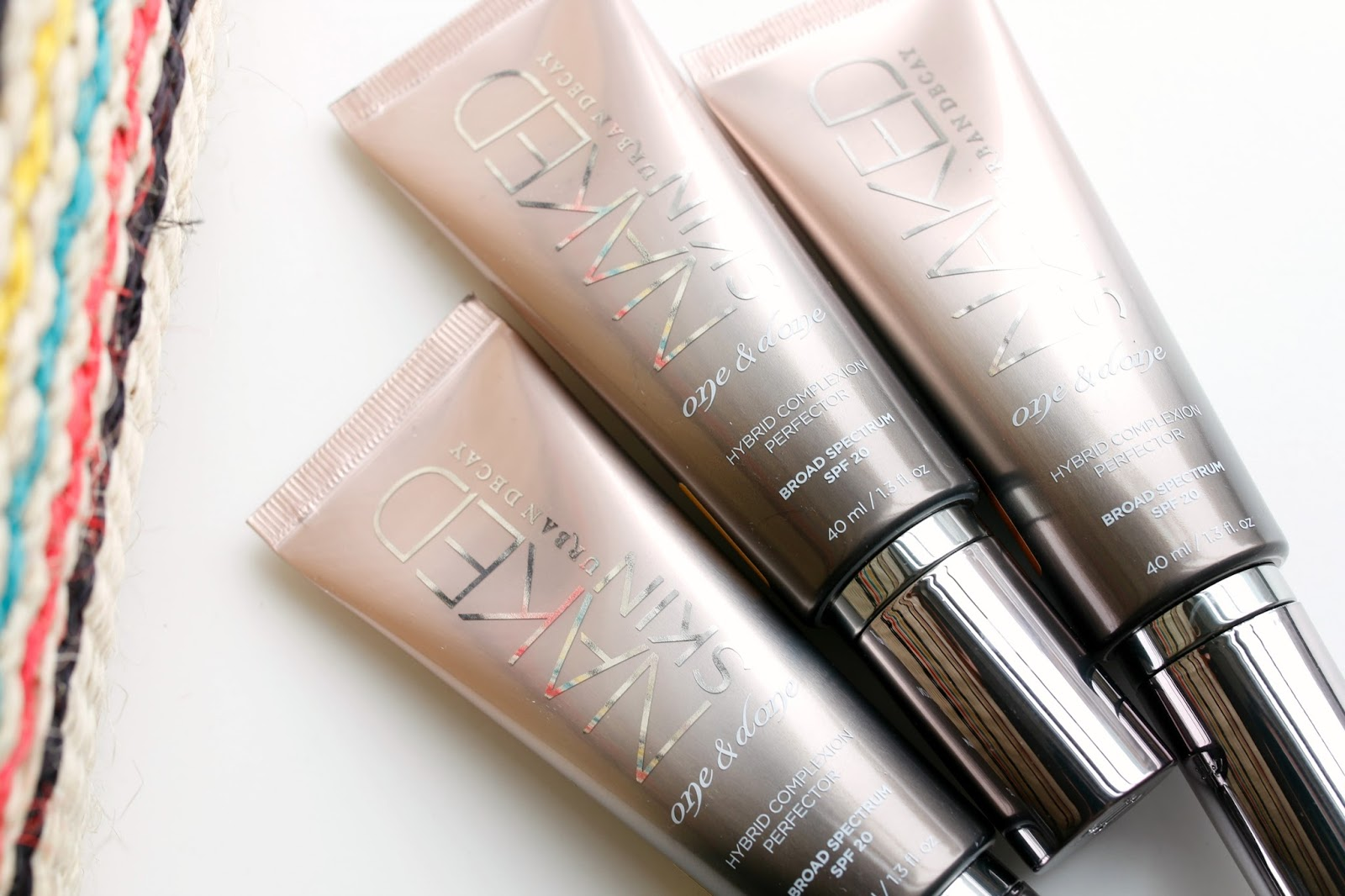 Review of the new Urban Decay Naked Skin Complexion Perfectors with swatches of every shade.