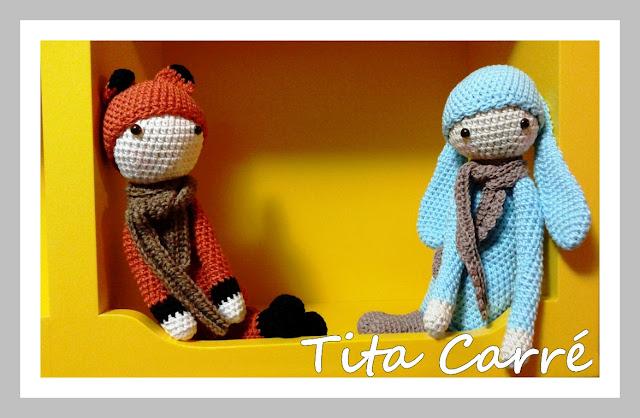 Raposa e Coelhinho em Crochet