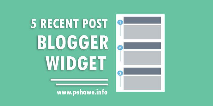 Kumpulan Recent Post Widget Keren Blogger