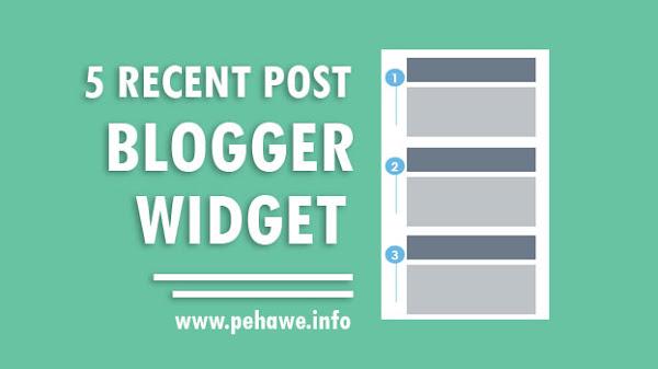 5 Widget Recent Post Terbaik Untuk Blog
