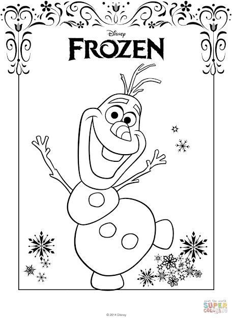 Click The Olaf From Frozen Coloring Pages To View Printable Version Or Color  It Online Patible With Ipad And Android Tablets