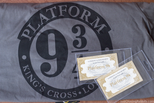 Platform 9 3/4 souvenirs (famous from Harry Potter series)