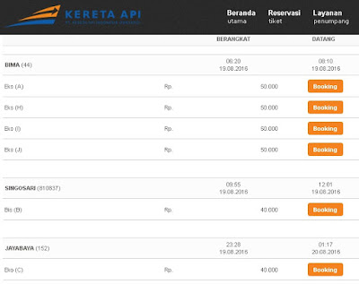 Jadwal dan Harga Tiket KA Singosari Ekspres Surabaya Malang