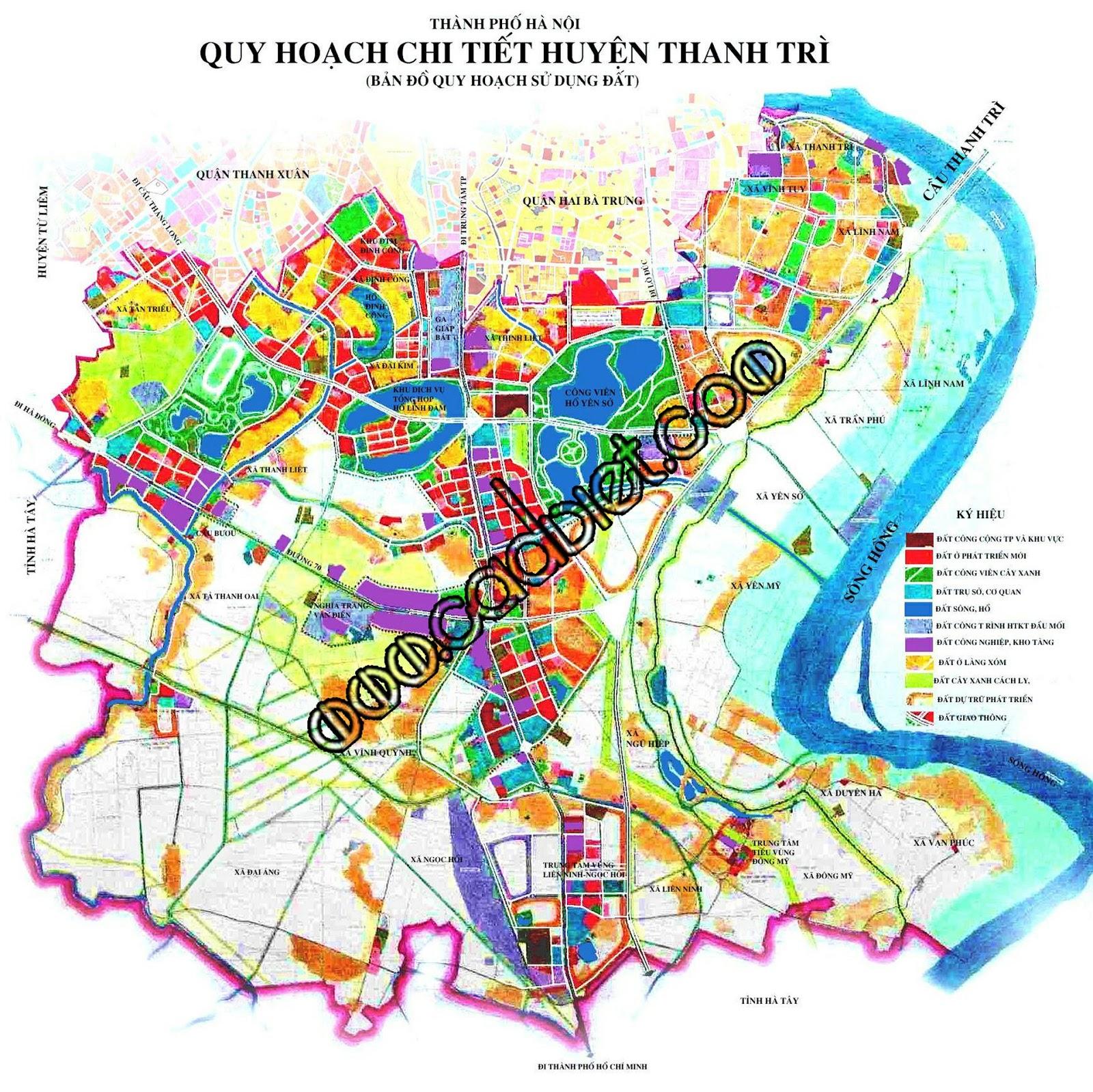 Bản đồ quy hoạch sử dụng đất Thanh Trì