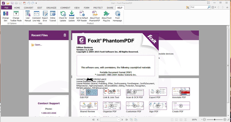 Foxit PhantomPDF Business 8 2 1 6871 Latest Version +