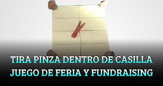 TIRA LA PINZA DENTRO DE CASILLA JUEGO DE FERIA Y FUNDRAISING
