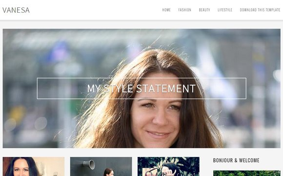 Vanesa Blogger Template