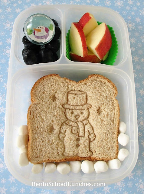 Frosty The Snowman Bento Lunch in Eadylunchboxes.