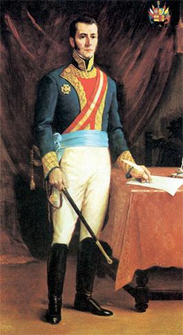 Foto al retrato del Virrey José de la Serna a colores