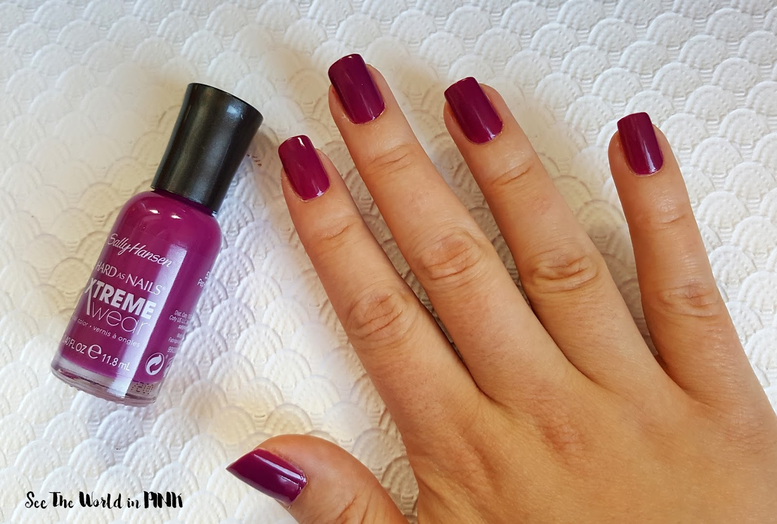 Manicure Tuesday - Sally Hansen Hard As Nails Xtreme Wear Polish in Pep-plum!
