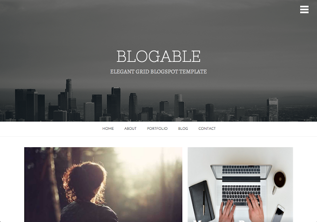 Blogable Responsive theme for bloggers