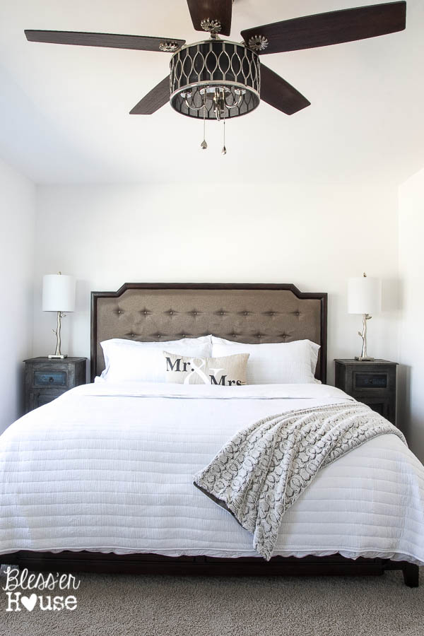 Our Master Bedroom Ceiling Fan Is Called Angora By Harbor Breeze It Works Really Well Too As Much I Love The Look Of A Gorgeous Chandelier In