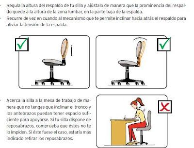 Ergonomía en oficinas postura correcta