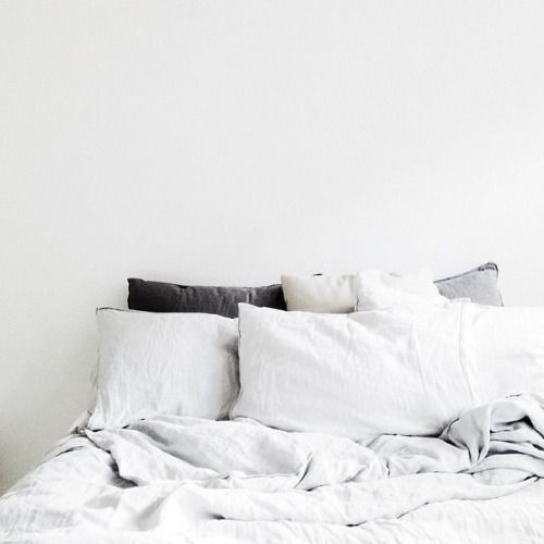Cozy linen sheets with calm, serene, slow living vibe - found on Hello Lovely Studio