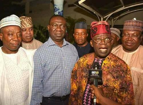 Photos Of Tinubu, Ekweremadu, Akpabio, Other PDP, APC Senators After Lagos Meeting