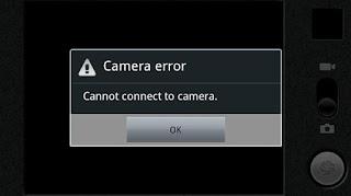 camera tidak dapat terhubung