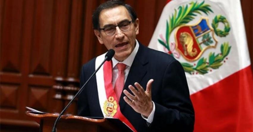 Presidente Vizcarra presentó seis proyectos de ley para reforma judicial