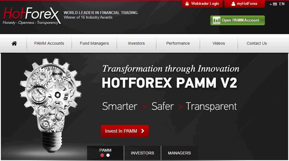 Tài khoản PAMM HotForex