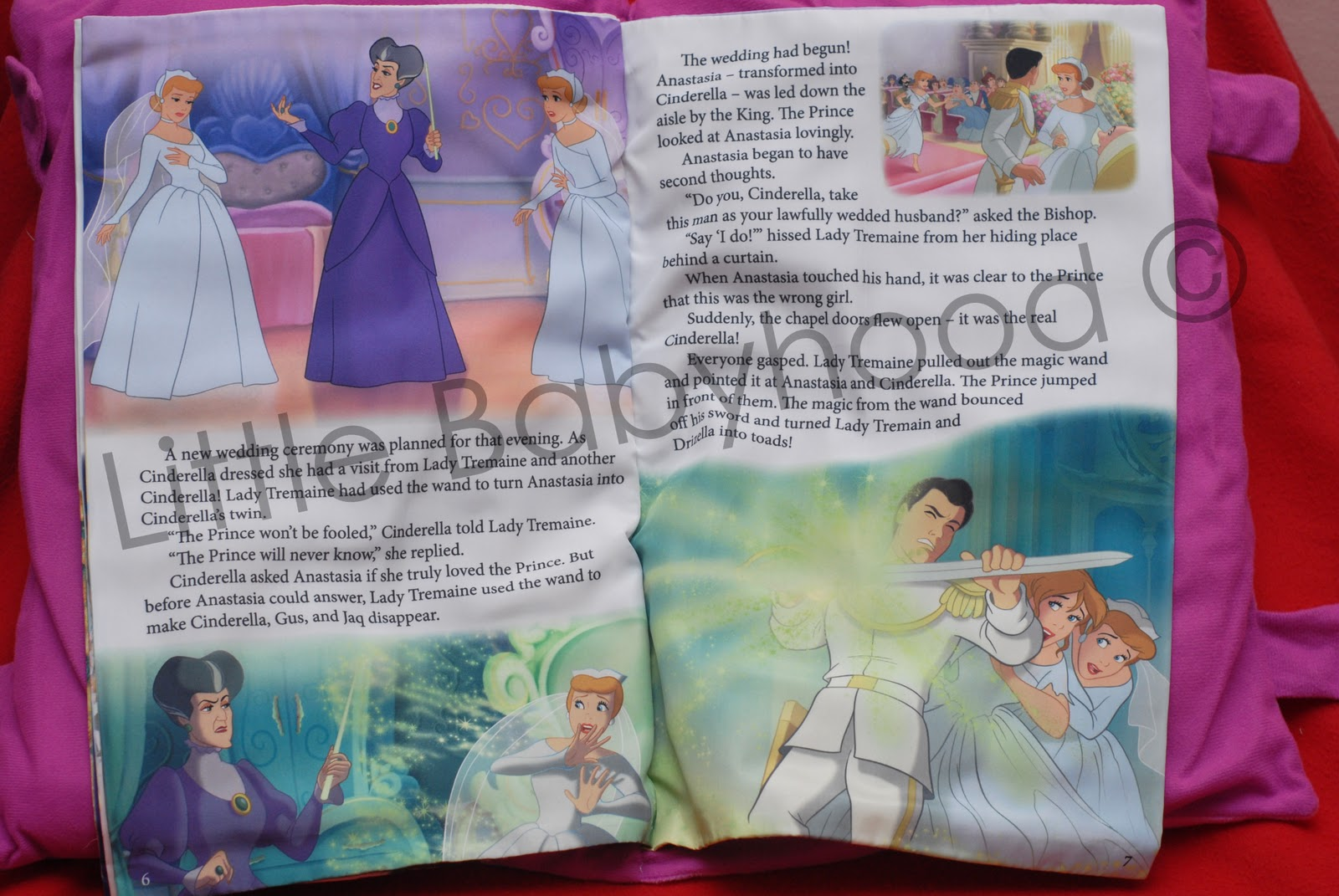 Little Babyhood Storybook Pillow  Cinderella A Twist In